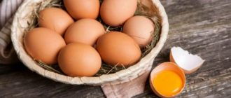 яйца куриные в вазе