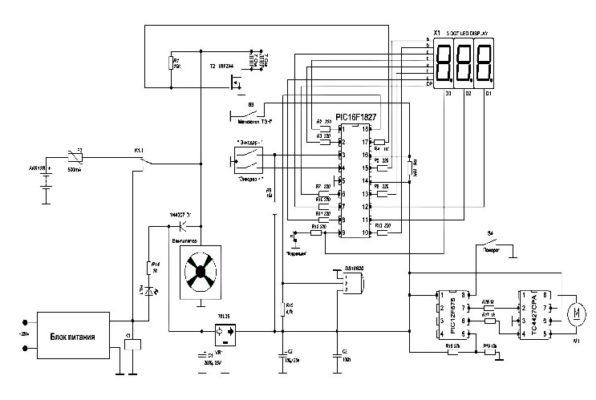 схема инкубатора блиц