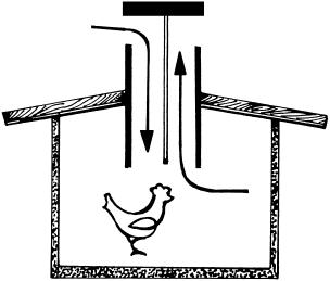 Схематичное устройство вентиляции в курятнике
