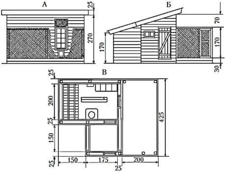 Чертежи и схемы для постройки курятника