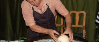 Приготовление страусиного яйца